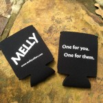 Neoprene, collapsible MELLY koozies.